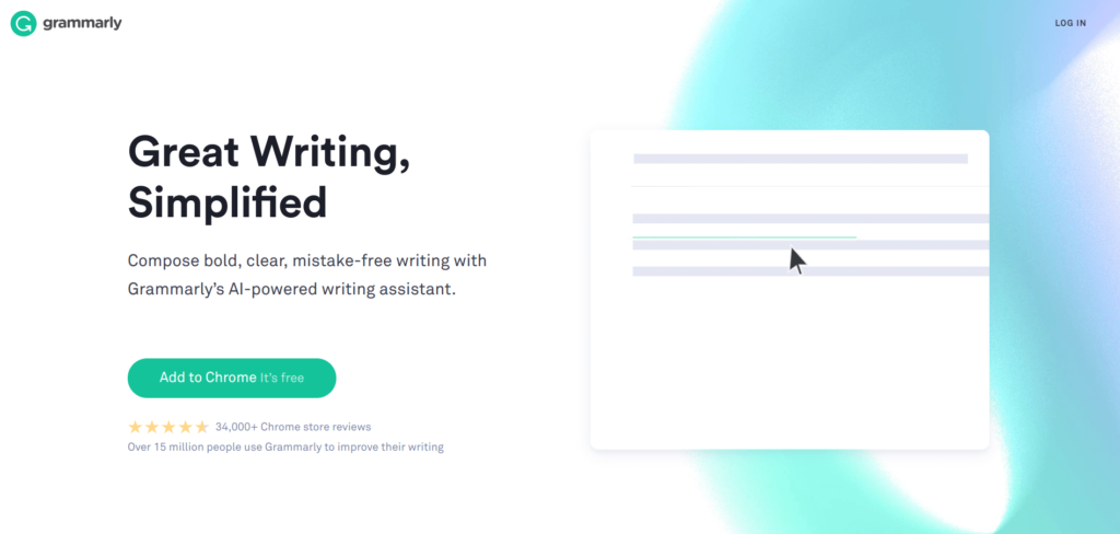 Grammarly Proofreading Software Measurements Cm