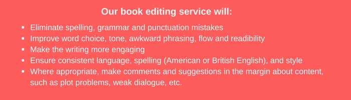 book editing services description